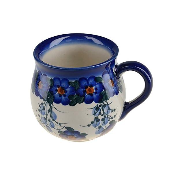 BCV Classic Boleslawiec, Polish Pottery Hand Painted Ceramic Mug, Barrel (300, U-001)