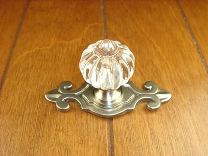 Sonoma Cabinet Hardware Roman Knob Brushed Satin Nickel With Fleur