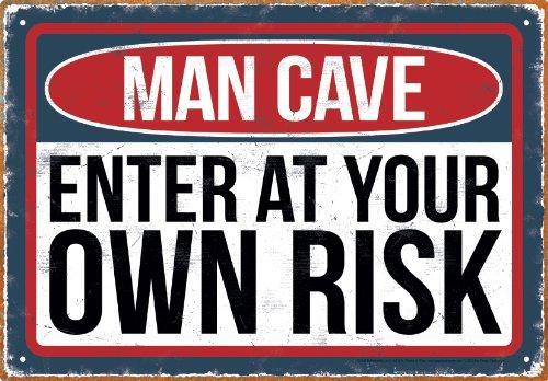 Aquarius Man Cave Risk Tin Sign