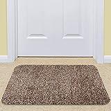 """BEAU JARDIN Indoor Doormat Absorbent Mats 36""""x24"""" Latex Backing Non Slip Door Mat for Small Front Door Inside Floor Mud Dirt Trapper Mats Cotton Entrance Rug Shoes Scraper Machine Washable Carpet"""