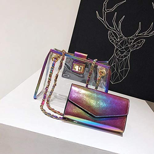 Mode Crossbody Jessiekervin Bandoulière Colorful color Clear Candy Sacs Colorful Yy3 Beach À Transparent Jelly Sac Main Femmes rrpYw