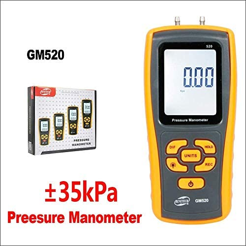Digital Manometer, Handheld Manometer Reifendruck Differenzial Tester USB Manometer Druck Manometer (GM520)