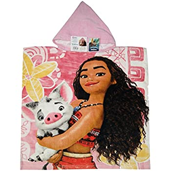 Amazon.com: Moana Disney - Toalla de playa con capucha ...
