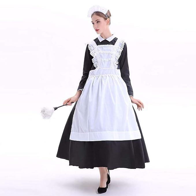 Vestido medieval para mujer, cosplay, maid, maid, disfraz de ...