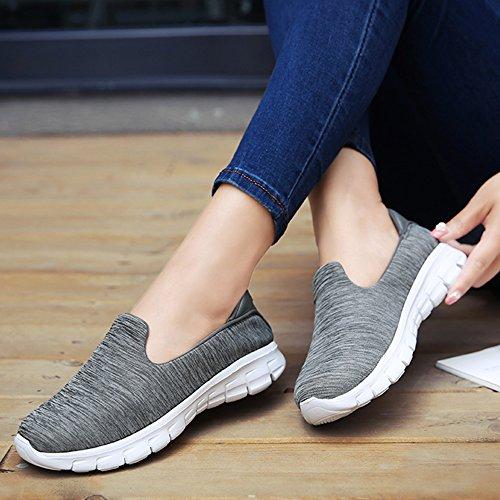 Slip Walk Jackshibo Ginnastica Sneaker Leggero Go Scarpe on Grigio1 Basse Donna Da q44xwIEpH