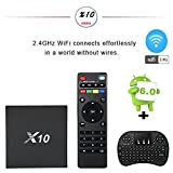 TV Box With Keyboard -[Updated Version] TopYart Android 6.0 Tv Box Bluetooth 4.0 4K Android Bo x , With Amlogic S905X Quad Core 2G/16G Wifi 1080p H.265 64 Bit Supporting 4K(60Hz) Full HD 2017 Android TV Box 2gb + Wireless Keyboard