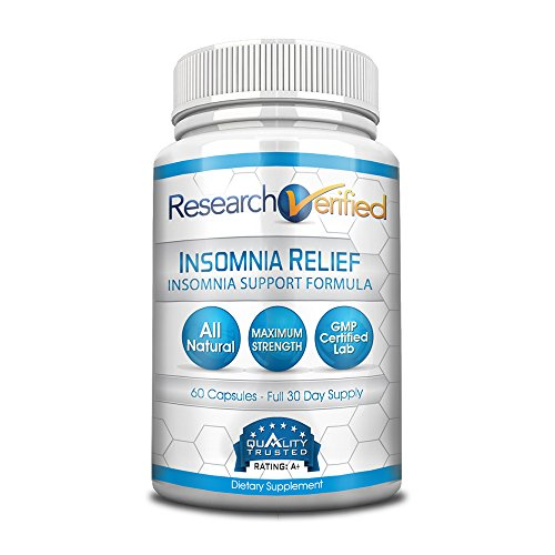 Research Verified Insomnia Relief - The Best Insomnia Relief Supplement on the Market - With L-Ornithine, Melatonin and Valerian for insomnia relief and sleep quality improvement - 1 Month Supply