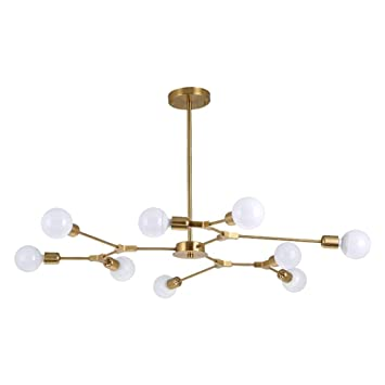 Amazon.com: PLLP Living Room Ceiling Lamp,Modern 9- Light ...