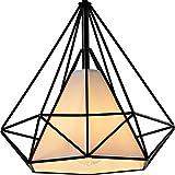 Diamond Shade Wrought Iron Chandelier - Battaa (2018 New Design) Industrial Pendant Lighting Vintage Hanging Modern Ceiling Loft Fixture Lamp for Indoor Kitchen Dining Room Bar Cafe 2-Year Warranty