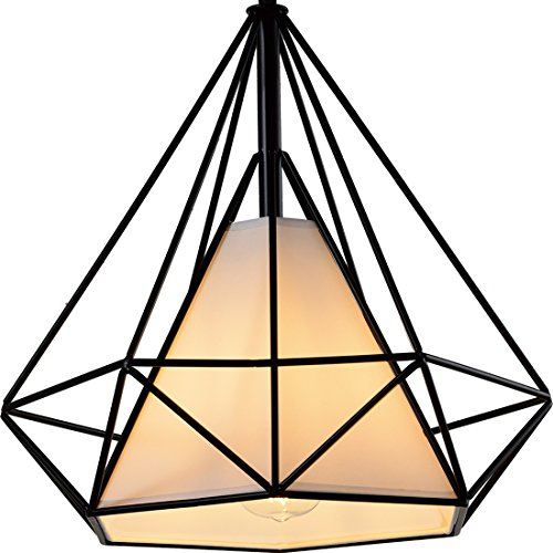 Diamond Shade Wrought Iron Chandelier - Battaa (2017 New Design) Industrial Pendant Lighting Vintage Hanging Modern Ceiling Loft Fixture Lamp for Indoor Kitchen Dining Room Bar Cafe 2-Year Warranty