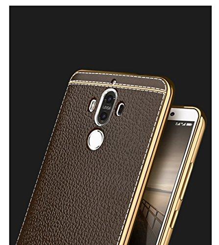 Funda Huawei Mate 9,Manyip Alta Calidad Ultra Slim Anti-Rasguño y Resistente Huellas Dactilares Totalmente Protectora Caso de Cuero Cover Case Adecuado para el Huawei Mate 9 B