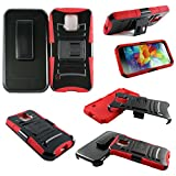 urban armor gear samsung mini s5 - Mstechcorp - Galaxy S5 mini G800 AT&T U.S. Cellular, Case for Galaxy S5 mini - Belt Clip Holster with Kickstand Phone Case (H RED)