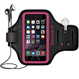 iPhone 6/6S/7/8 Plus Armband, JEMACHE Fingerprint Touch Supported Gym Sport Running Workout/Exercise Arm Band for iPhone 6/6S/7/8 Plus (Rosy) Reviews