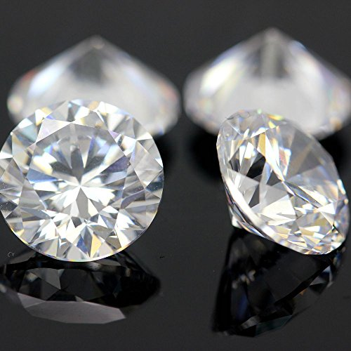 200pcs 4.0mm 5A Sample White Round Machine Cut Lab Created Loose Cubic Zirconia CZ Stone Synthetic Gems For Jewelry DIY