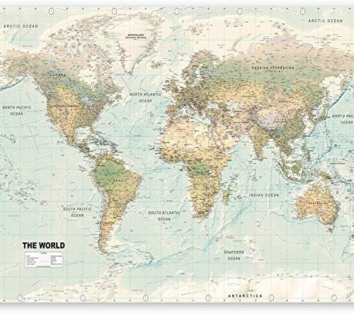 murando Fotomurales 200x140 cm XXL Papel pintado tejido no tejido Decoración de Pared decorativos Murales moderna de Diseno Fotográfico Mapamundi Mapa del mundo k-a-0091-a-d: Amazon.es: Bricolaje y herramientas