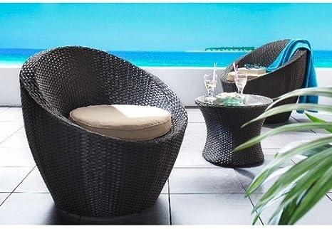 1PLUS Lanfora - Set de mesa y 2 sillones para jardín: Amazon.es: Jardín