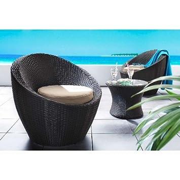 1PLUS Lanfora - Set de mesa y 2 sillones para jardín ...