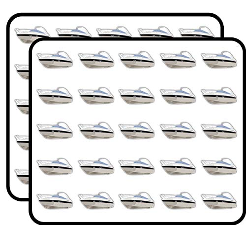Cruising Motor Yacht Art Decor Sticker for Scrapbooking, Calendars, Arts, Kids DIY Crafts, Album, Bullet Journals 50 Pack
