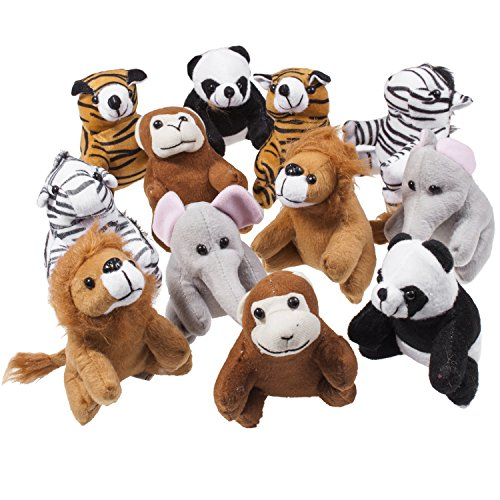 Stuffed Toy, Set of 12 Plush Animals, Includes a Plushed Bea