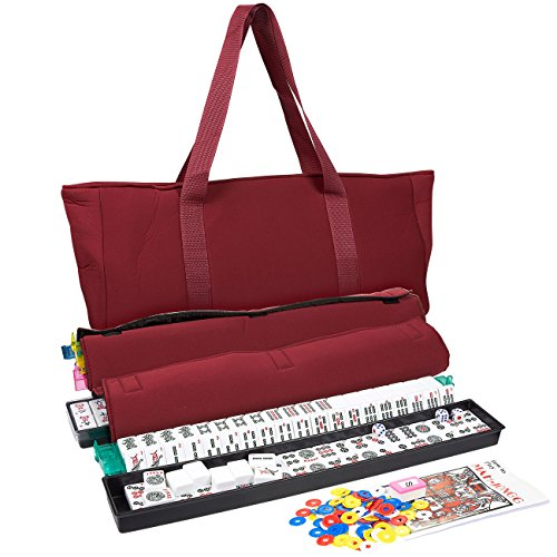 Juvale American Mahjong Set - Everything Needed to Play - Includes 166 Tiles, Pushers, Accessories, Case, Bag
