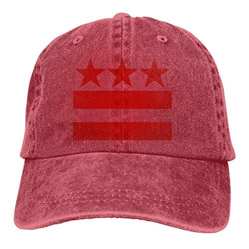 Men's/Women's Adjustable Vintage Jeans Baseball Caps Washington Flag Trucker Cap Red ()