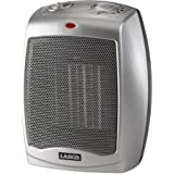 Lasko Electric Ceramic 1500W Heater, Silver/Black, 754200, 1500W