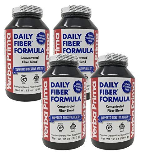 Yerba Prima Daily Fiber Formula Powder – 12 oz Pack of 4