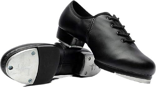 joocare Child Lace Up Beginner Tap Dance Shoes Unisex Toddler//Little Kid