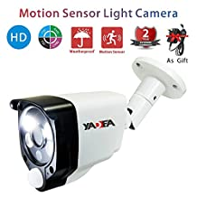 Security CCTV Camera System Outdoor Surveillance Camera with YADEA Motion Detect Security System AHD/TVI/CVI Camera 1.0MP 100ft Nightvision (1.0MP 720P)