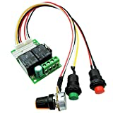 uniquegoods 6V 12V 24V 28VDC 3A 80W DC Motor Speed Controller PWM Speed Adjustable Reversible Button Switch DC Motor Driver Reversing 1203BS