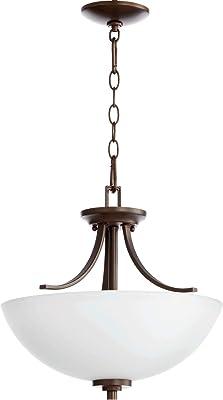 Quorum 2760-16-86 Reyes Pendant, 3-Light, 225 Total Watts, Oiled Bronze