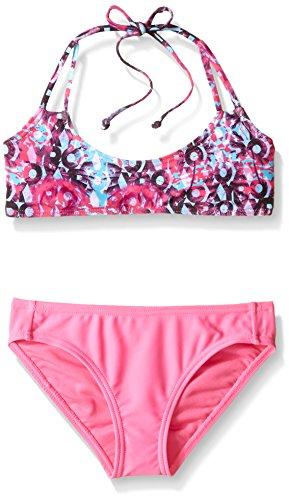 Roxy Big Girls' Altered Destination Bandeau Set, Sugar Plum, - Destination Swimwear