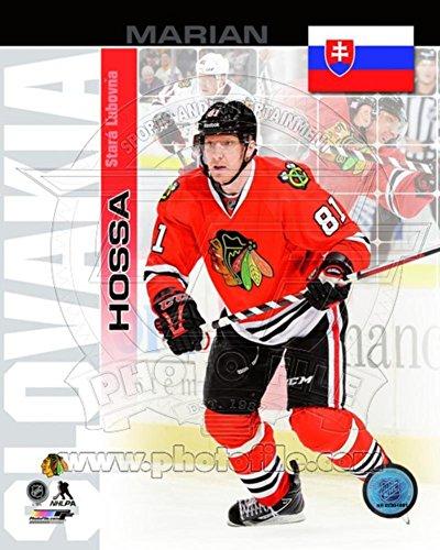 Chicago Blackhawks Marian Hossa- Slovakia Portrait Plus Photo 11 x - Pictures Slovakia Of