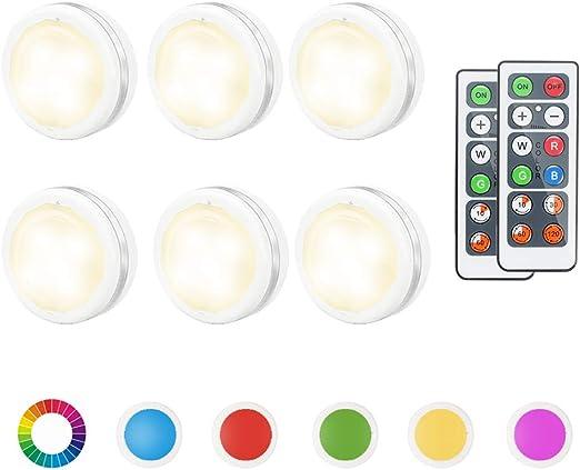 6x LED RGB Unterbauleuchte Schrankleuchte Strahler Küche Lampe Fernbedienung