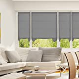 SUNFREE Cordless Light Filtering Fabric Pleated