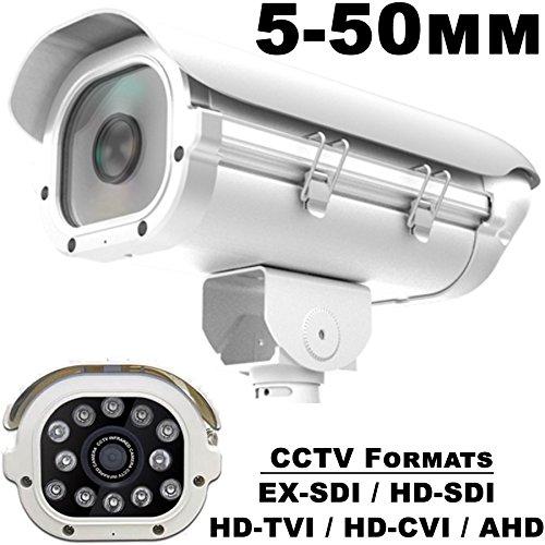 USG 2MP 1080P Sony Chipset License Plate Recognition LPR Capture Bullet Security Camera : 5-50mm Vari-Focal HD Lens : 12x Array LEDs: HD-SDI, EX-SDI, HD-TVI, HD-CVI, AHD CCTV Format : Business Grade