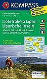 Isole Eolie o Lipari - Liparische Inseln - Alicudi - Filicudi - Lipari - Panarea - Salina - Stromboli - Vulcano: Wanderkarte mit Aktiv Guide. GPS-genau. 1:25000 (KOMPASS-Wanderkarten, Band 693)