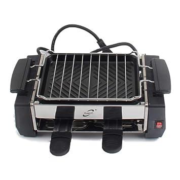 WSJS Hogar SmokeLess Horno eléctrico Mini Parrilla Interior ...
