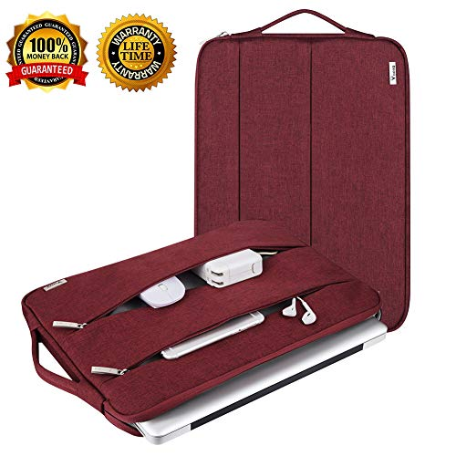 Laptop Sleeve Slim Laptop Case 11 11.5 11.6 12 Inch Laptop Bag Compatible Mac Surface HP Dell Lenovo Acer Asus Chromebook Case Sleeve MacBook Air Pro Universal Waterproof with Handle ()