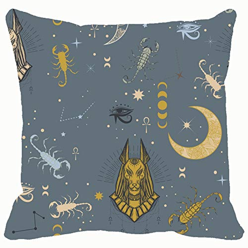 Throw Pillow Covers Egyptian god Anubis Scorpion Beauty Fashion alche Cotton Linen Cushion Cover Cases Pillowcases Sofa Home Decor 18