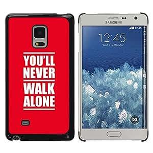 Stuss Case / Funda Carcasa protectora - NUNCA ANDES SOLO - Samsung Galaxy Mega 5.8
