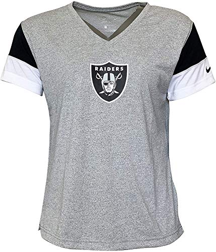 Nike Women's T-Shirts Oakland Raiders Short Sleeve Crew Neck T-Shirt 1