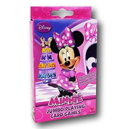Disney Junior Minnie Mouse Bowtique Jumbo Playing Oversized Kids Card Deck (54 Piece), Multicolor
