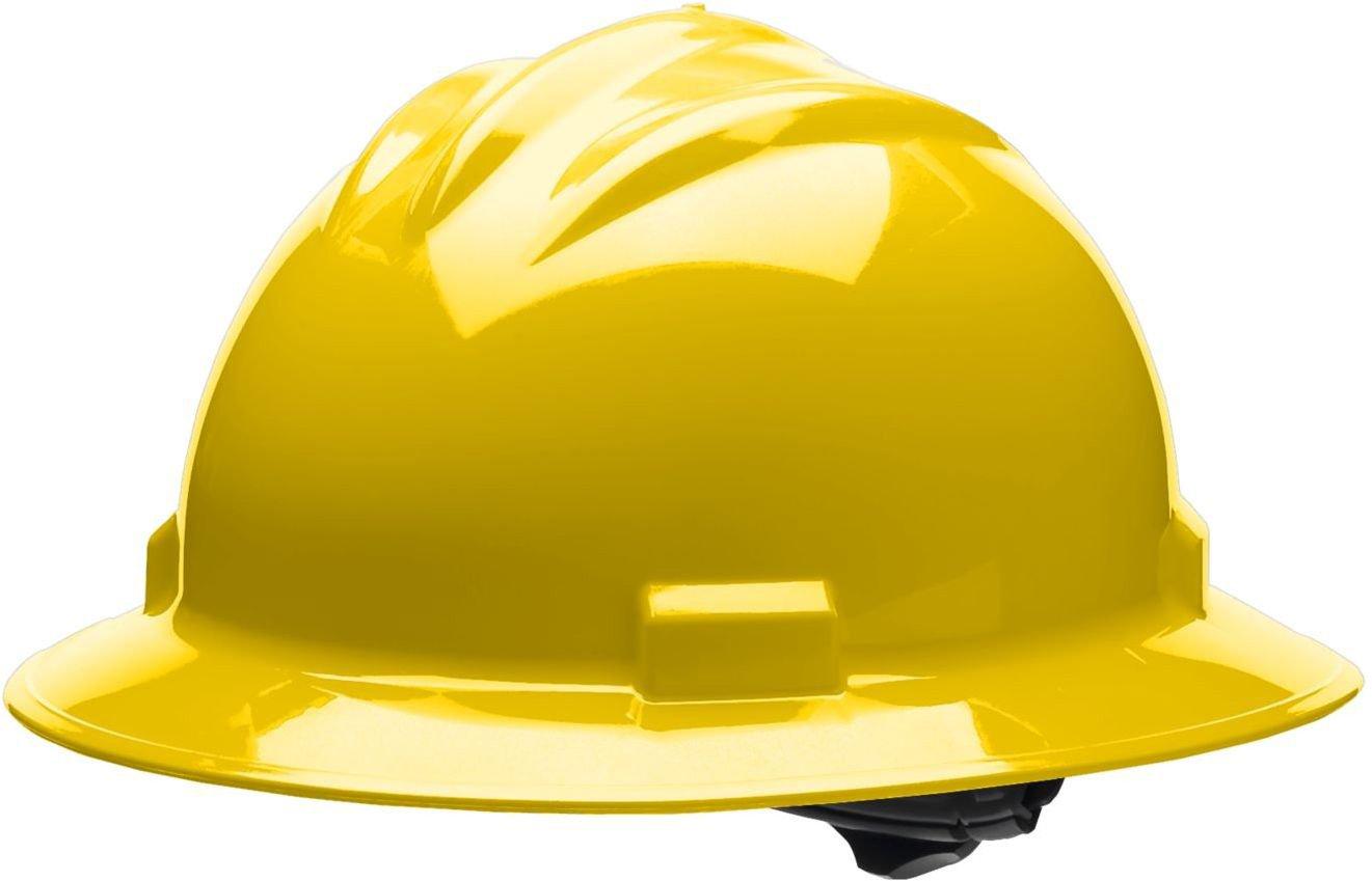 Bullard 71ylb estándar serie completa Brim Hat, 4 punto trinquete suspensión, vinilo Cejas Pad, Amarillo, talla única: Amazon.es: Amazon.es