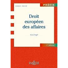 Droit européen des affaires (Précis) (French Edition)
