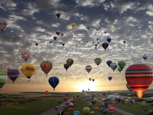 TSlook Poster Print on Canvas wall decorations Hot Air Balloons - Art 24x36 inches ()