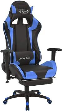 Blau IntimaTe WM Heart Gaming Stuhl Racing Gamer Stuhl,Ergonomischer B/ürostuhl Computerstuhl Drehstuhl mit Fu/ßst/ütze