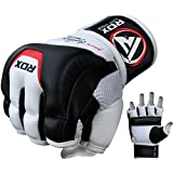 RDX MMA Gloves Grappling Martial Arts Genuine Cowhide Leather Punching Bag Mitts Sparring Cage Fighting UFC Combat Training
