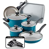 Farberware 20361 Nonstick Cookware Set, Large, Teal
