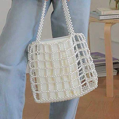 ZTDXCL Women's Clutch Bag Beaded Retro Dinner Bag Party Banquet Bride Dress Dance Party Evening Bag - Pearl